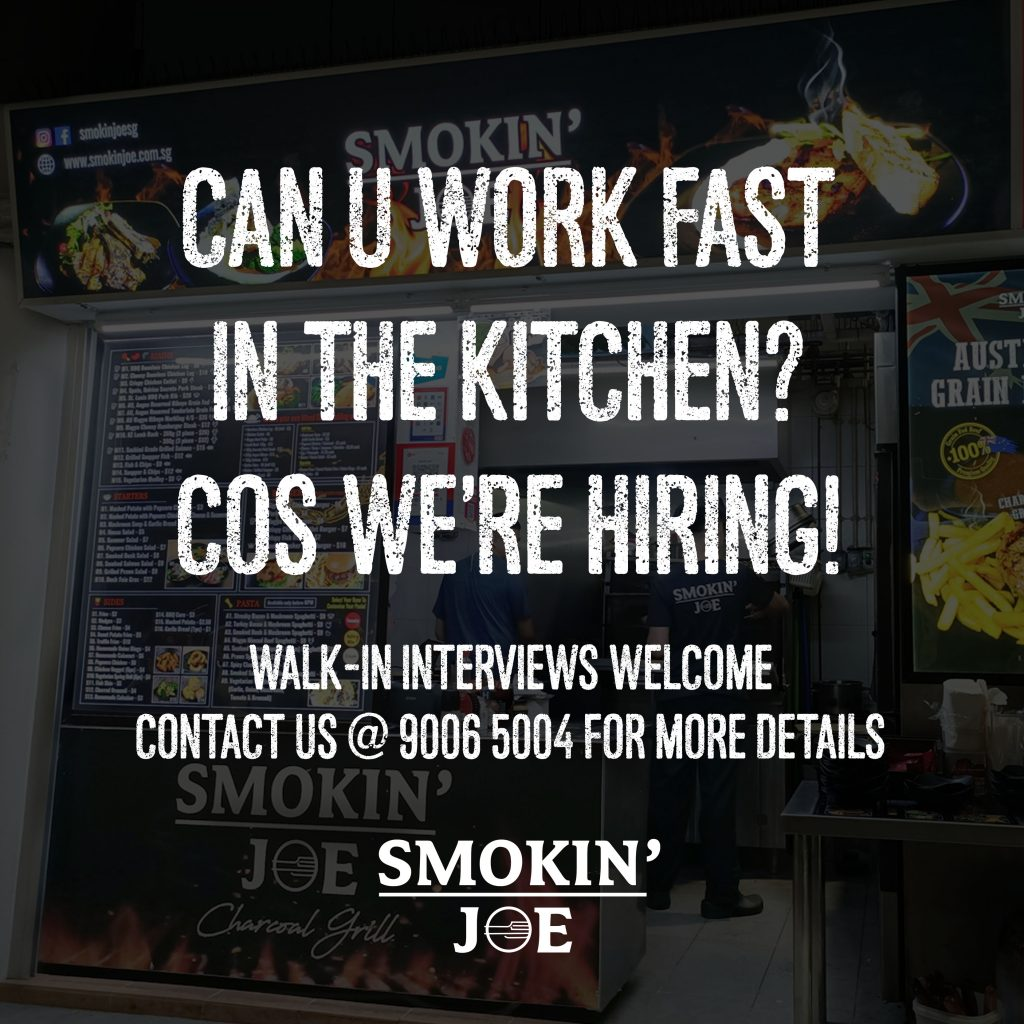 Smokin' Joe is hiring!